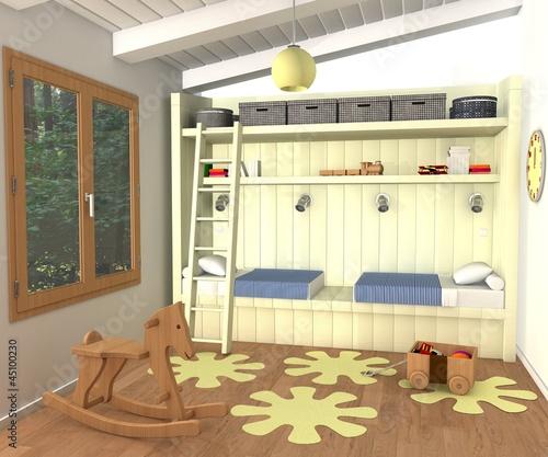 chambre enfant mixte photo libre de droits sur la banque d 39 images image 45100230. Black Bedroom Furniture Sets. Home Design Ideas