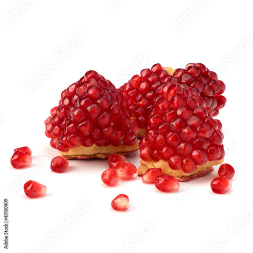 Ripe pomegranate piece