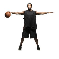 Studio shot of basketball player