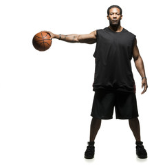 Studio shot of basketball player