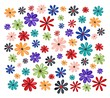 Watercolors floral background