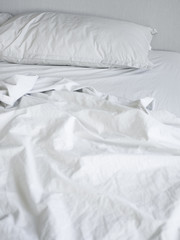 """USA, Utah, Provo, Empty bed"""