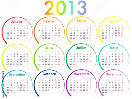 Calendrier 2013 : Multicolore