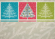 christmas trees  on color crumple background, vector
