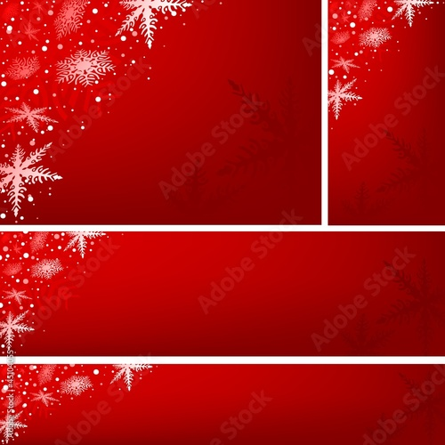 Red Xmas Banners