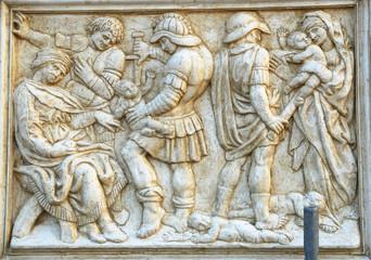 Saint Petronius Basilica decoration: The Innocent massacre