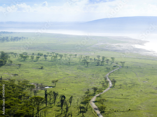 """View of rural road in Kenya, Africa"""