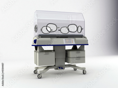 incubator isolated on white background
