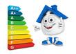 Kleines 3D Haus Blau - Super Energieeffizienz