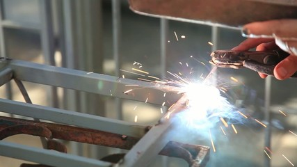 worker used weld
