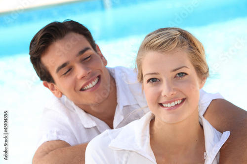 Young man gazing adoringly at his girlfriend