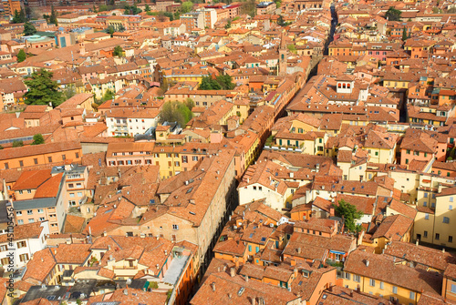 Italy, Bologna aerial view from Asinelli tower