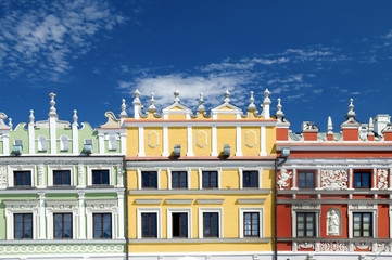 Czech Republic, Prague, row of colorful buildings