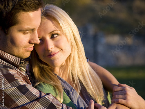 USA, Utah, Provo, Young couple embracing
