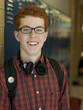 """USA, Utah, Portrait of teenage boy (16-17) in school corridor"""