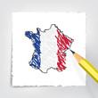 Frankreich Karte Zeichnung
