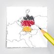 Deutschland Europa Karte