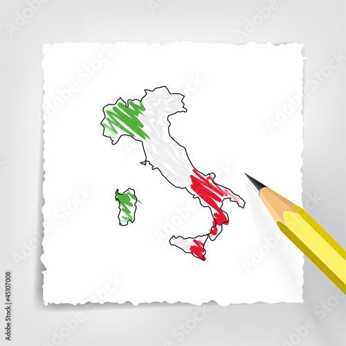 Italien Karte Zeichnung