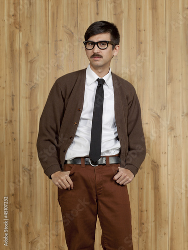 Studio portrait of successful businessman