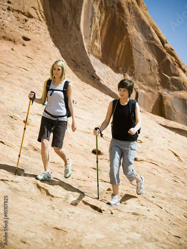 hikers in the desert