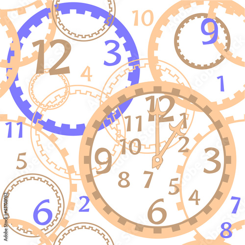 pattern clock white