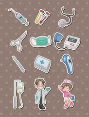 cartoon hospital stickers