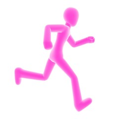 run right pink