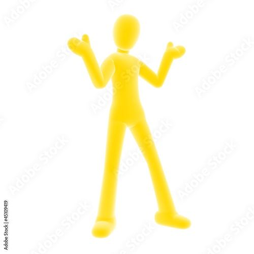 yellow person giveup