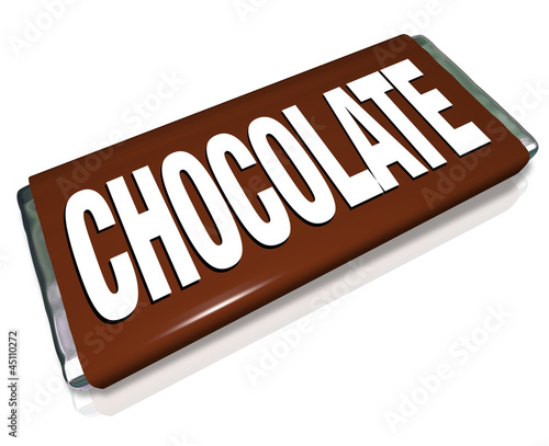 Chocolate Candy Bar Brown Wrapper Junk Food