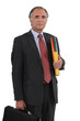 Senior businessman holding a folder