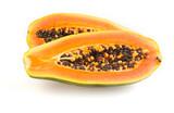 Halved papaya