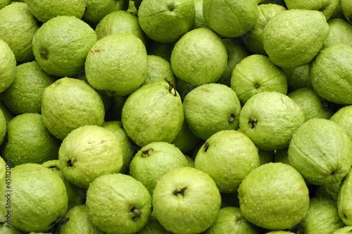 Fresh guavas background