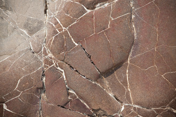 Surface of a large brown stone