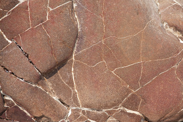 Surface of the gray-brown stone