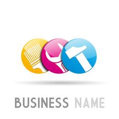 Logo Bricolage # Vector
