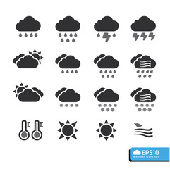 Weather Web Icons Set .vector for web template