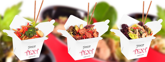 tasty background of  healthy Chinese food