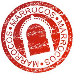 Carimbo desgastado - Marrocos, porta tradicional