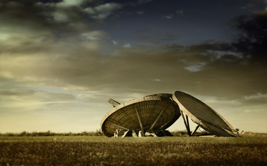 military radar dishes