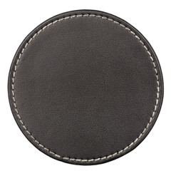 Leather table coaster