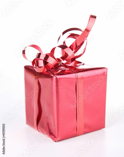 isolated red gift box