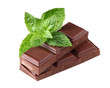 Chocolate with fresh mint