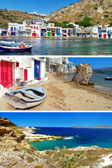 colorful Greece series - traditional Milos island