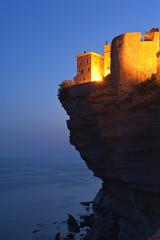 Citadel of Bonifacio, Corsica at dusk