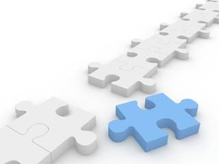 Jigsaw puzzle chain