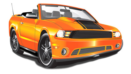 Orange Muscle Convertible