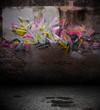 Fond mur grunge - Graffiti