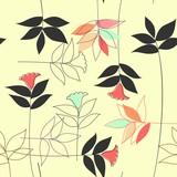 Floral seamless pattern (vector version)