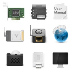 network hardware vector icons