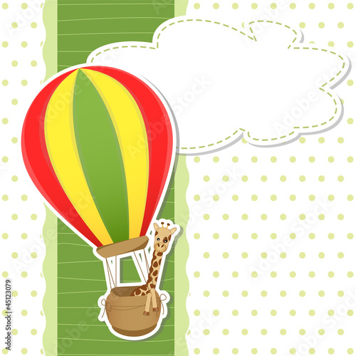 baby shower - hot air ballon - mongolfiera